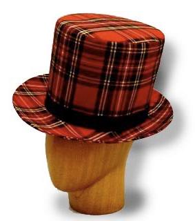 Le chapeau imprimé tartan Anthony Peto