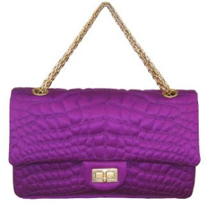 "Croco Coco violet ""flashy"" de Chanel"