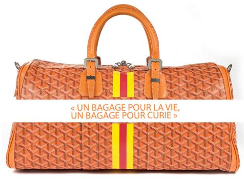 """Troisième édition de la vente caritative """"Un bagage pour la vie, un bagage pour Curie"""""""